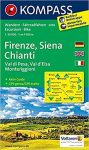 2458. Firenze, Siena, Chianti turista térkép Kompass 1:50 000