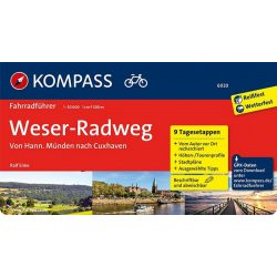 6020. Weserradweg, von Hann. Münden nach Cuxhaven kerékpáros útikönyv Fahrradführer