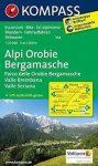 104. Alpi Orobie Bergamasche, Valle Brembana, Valle Seriana, D/I turista térkép Kompass