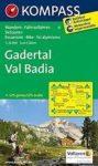 51. Gadertal Val Badia turista térkép Kompass 1:25 000