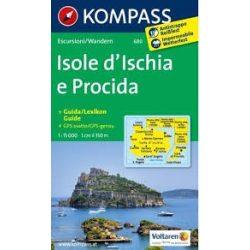 680. Isole d'Ischia e Procida, 1:15 000/Ortsplan 1:10 000, D/I/E/F turista térkép Kompass