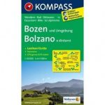 54. Bozen u. Umgebung/Bolzano e dintorni, D/I turista térkép Kompass