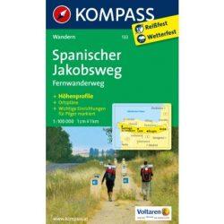 133. Spanischer Jakobsweg, Fernwanderweg, 1:100 000 turista térkép Kompass