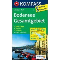 1c Bodensee turista térkép Kompass 1:75 000