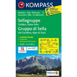 59. Sellagruppe turista térkép Kompass 1:50 000