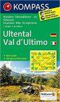 052. Ultental, Val d'Ultimo turista térkép Kompass 1:25 000