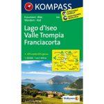 106.  Lago d'Iseo, Valle Trompia, Franciacorta turistatérkép  Kompass 1:50 000  2012