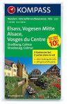 2221. Elsass/Vogesen Mitte, 2teiliges Set mit Aktiv Guide, D/F turista térkép Kompass