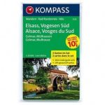 2222. Elsass/Vogesen Süd, 2teiliges Set mit Aktiv Guide, D/F turista térkép Kompass