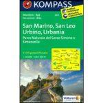 2455. San Marino - San Leo - Urbino - Urbania turistatérkép  Kompass 1:50 000  2013