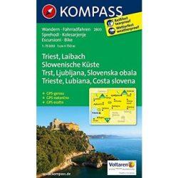2803. Triest, Laibach turista térkép Kompass 1:75 000