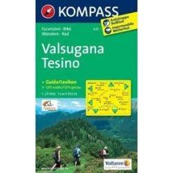 621. Valsugana-Tesino turista térkép Kompass 1:25 000