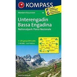 98. Unterengadin turista térkép Kompass 1:50 000