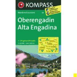 99. Oberengadin turista térkép Kompass 1:40 000