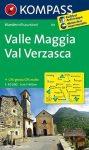 110. Valle Maggia Val Verzasca turista térkép Kompass 1:50 000