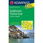 111. Südtessin, Locarno, Lugano, 1:40 000 turista térkép Kompass