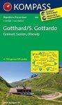 108. Gotthard turista térkép Kompass 1:50 000