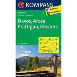 113. Davos turista térkép Kompass 1:50 000