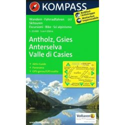 057. Antholz, Anterselva-Gsies Valle di casies turista térkép Kompass 1:35 000