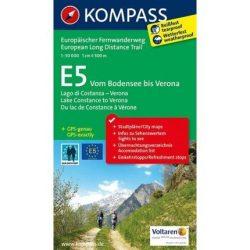 2558. E5 Bodensee bis Verona, D/E túrakalauz angol nyelven