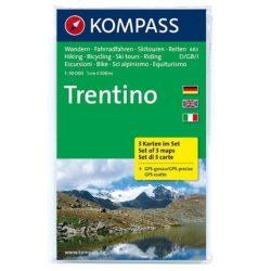 683. Trentino, 3teiliges Set turista térkép Kompass