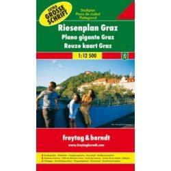 Graz atlasz, Graz térkép, spirál kisatlasz, Graz várostérkép Freytag & Berndt 1:12 500
