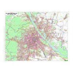 Bécs falitérkép, teljes Bécs, műanyaghengerben, 1:25 000, (121 x 95 cm) Freytag térkép PL 2 P