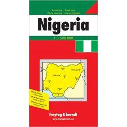 Nigéria térkép Freytag & Berndt 1:1 500 000