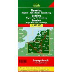Benelux államok térkép 1:500 000 Freytag AK 80 2011
