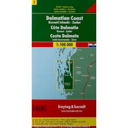 Dalmát-tengerpart 1 Kornaten - Zadar 1:100 000  Freytag térkép AK 0703