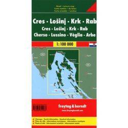 Cres-Lošinj-Krk-Rab, hajózási térkép információkkal, 1:100 000  Freytag térkép AK 0702