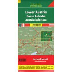 Ausztria 1 Bécs, Alsó-Ausztria térkép, 1:200 000 Freytag OE 1