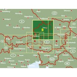 Ausztria 2 Felső-Ausztria térkép , Salzkammergut, 1:200 000 Freytag  OE 2