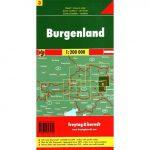 Ausztria 3 Burgenland térkép, 1:200 000 Freytag OE 3