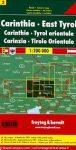 Ausztria 5 Karintia térkép, Kelet-Tirol térkép, 1:200 000 Freytag OE 5