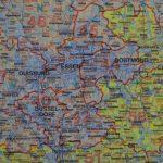 Németország postai irányítószámos térkép, műanyaghengerben, 1:700 000, (98 x 128 cm)  Freytag térkép PLKD P