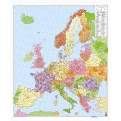 Európa postai irányítószámos térképe falitérkép  1:3 700 000, 95 x 112 cm  Freytag térkép PLKEU P