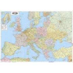 Európa politika fémléces, műanyaghengerben, 1:3 500 000, (126 x 88,5 cm)  Freytag térkép AK 22 B