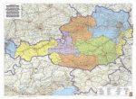 Ausztria közigazgatási fémléces, műanyaghengerben, 1:500 000, (122 x 84 cm) Freytag térkép OKÖ 2