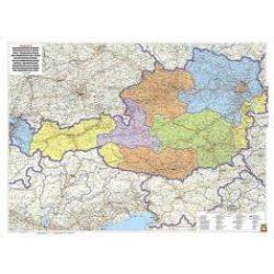 Ausztria közigazgatási fémléces, műanyaghengerben, 1:500 000, 120,5 x 91,5 cm Freytag térkép OKÖ 2
