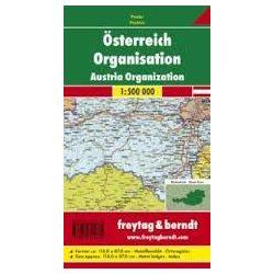Ausztria közigazgatási térképe, 1:500 000 hajtott Freytag térkép OKÖ 1