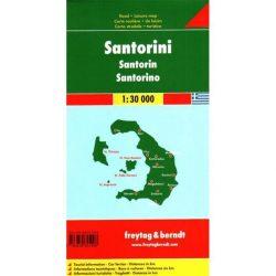 Santorini térkép Freytag 1:30 000  Szantorini térkép