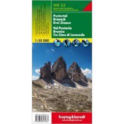 WKS 3 Pustertal, Bruneck, Drei Zinnen turistatérkép 1:50 000