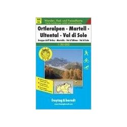 WKS 6 Ortleralpen-Martell-Ultental-Val di Sole turista térkép Freytag 1:50 000