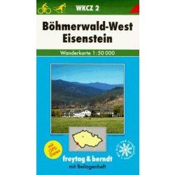 WKCZ 2 Böhmerwald-West turista térkép Freytag 1:50 000