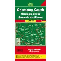 Dél-Németország, 1:500 000  Freytag térkép AK 0207