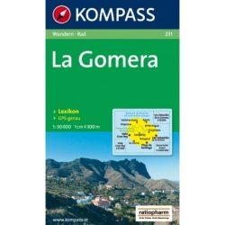 231. La Gomera turista térkép Kompass 1:30 000