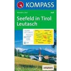 026. Seefeld in Tirol turista térkép Kompass 1:25 000