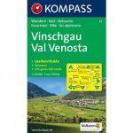 52. Vinschgau/Val Venosta, D/I turista térkép Kompass