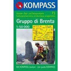 73. Dolomiti di Brenta, D/I turista térkép Kompass